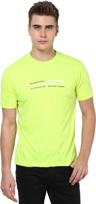 Okane Printed Men's Round Neck Green T-Shirt
