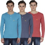 PRO Lapes Solid Men's Henley Multicolor ...