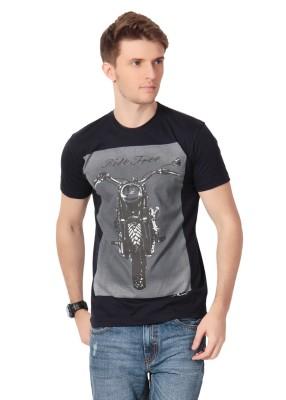 Howzat Printed Men's Round Neck Black T-Shirt