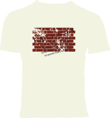 Oneliner Printed Men's Round Neck White T-Shirt