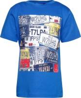 Joshua Tree Boys Printed Cotton T Shirt(Blue)