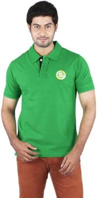 Bib & Tucker Solid Men's Polo Neck Green T-Shirt