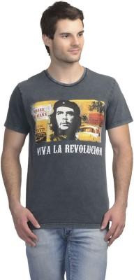 Che Guevara Printed Men's Round Neck Blue T-Shirt