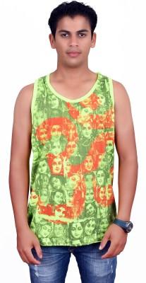Sure Printed Men's Round Neck Green T-Shirt