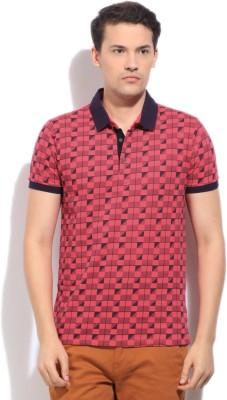 Arrow Newyork Printed Men's Polo Red T-Shirt