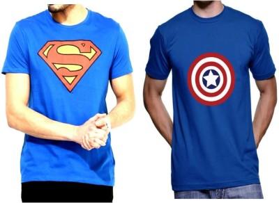 Sprat Graphic Print Men's Round Neck Blue, Blue T-Shirt