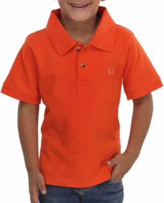 Trmpi Solid Boy's Polo T-Shirt