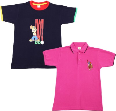 Nat Khat Printed Boy,s Round Neck T-Shirt