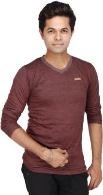 JG FORCEMAN Solid Men's Halter Neck Grey T-Shirt