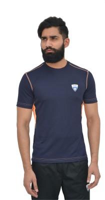 Color Castle Solid Men's Round Neck Blue T-Shirt