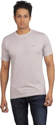 Moxi Solid Men's Round Neck Grey T-Shirt