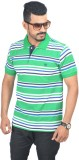 Woodside Solid Men's Polo Neck Green T-S...