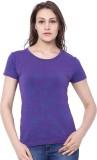 C9 Printed Women's Round Neck Purple T-S...