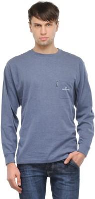 TSX Solid Men's Round Neck Blue T-Shirt