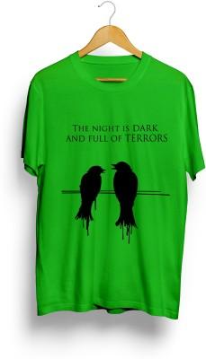 Teeforme Printed Men's Round Neck Green T-Shirt