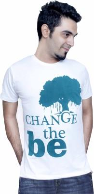 Tee Hive Graphic Print Men's Round Neck White T-Shirt