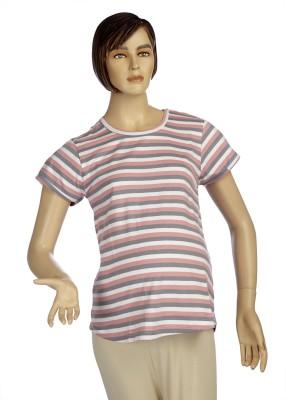 Mama & Bebe Striped Women's Round Neck T-Shirt