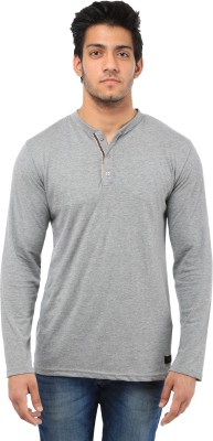 Five Stone Solid Men's Henley Grey T-Shirt