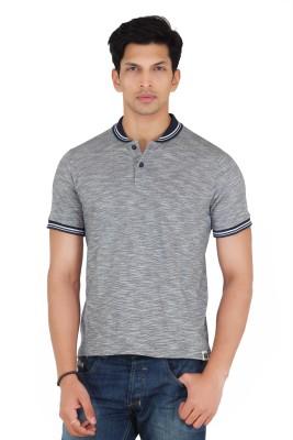 Webmachinez Solid Men's Polo Grey T-Shirt