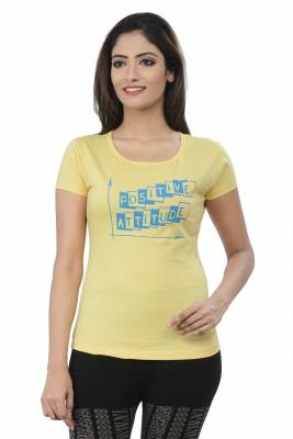 TSG Breeze Printed Women's Round Neck Gold T-Shirt