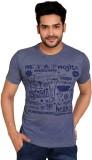 Goplay Printed Men's Round Neck Blue T-S...