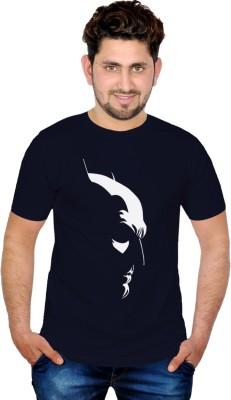 INKIT Graphic Print Men's Round Neck Blue T-Shirt
