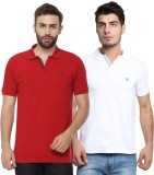 Youthen Solid Men's Polo Neck White, Red...