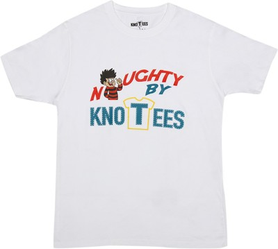 Knotees Printed Men's Round Neck White T-Shirt