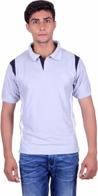 EX10 Solid Men,s Polo Neck Grey T-Shirt