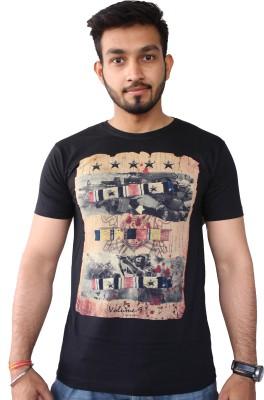 Volume-Nine Graphic Print Men's Round Neck T-Shirt