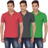 Chakravarthi Solid Men's Polo Neck Red, ...