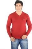 Thread Craft Solid Men's V-neck Maroon T...