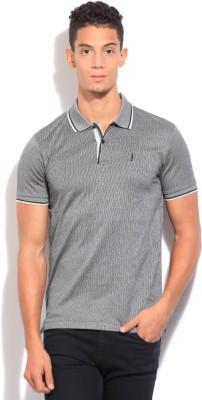 Arrow Newyork Self Design Men's Polo Grey T-Shirt