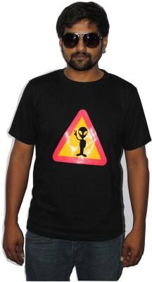CORAL Graphic Print Men's Round Neck Multicolor T-Shirt