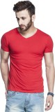Tinted Solid Men's V-neck Red T-Shirt