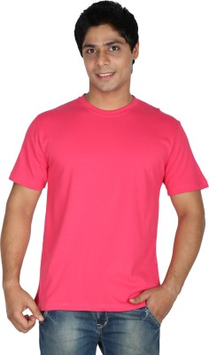 Trendster Solid Men's Round Neck Red T-Shirt