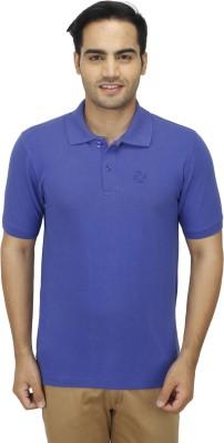 Zista Solid Men's Polo Blue T-Shirt