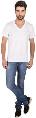 Attabouy Solid Men's V-neck T-Shirt