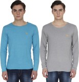 PRO Lapes Solid Men's Round Neck Multico...