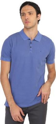 Calvin Klein Solid Men's Polo Neck Purple T-Shirt