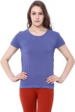 C9 Printed Women's Round Neck Blue T-Shi...