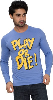 Alan Jones Graphic Print Men's Round Neck Blue T-Shirt