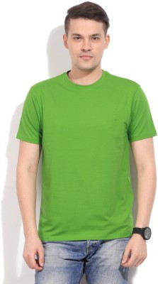 Global Nomad Solid Men's Round Neck Green T-Shirt