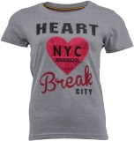 PIN POINT Printed Girl's Round Neck T-Sh...