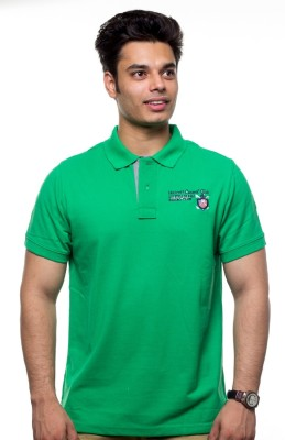 Unicott Solid Men's Polo Green T-Shirt