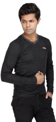 JG FORCEMAN Solid Men's Halter Neck Black T-Shirt