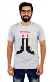 Glittarati Printed Men's Round Neck Grey...