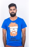 Hipsters Printed Men's Round Neck Blue T...