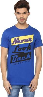 Lowcha Printed Men's Round Neck Blue, Black T-Shirt