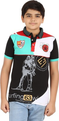 Libra Fashions Printed Boy's Polo Neck T-Shirt